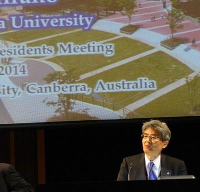 President Hirano at APRU meeting